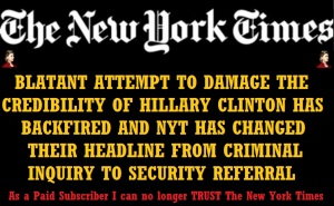 CLINTON CAMPAIGN - NEW YORK TIMES JULY 28 15