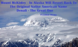 DENALI - THE GREAT ONE PRES OBAMA