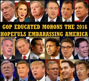 GOP - 2016 HOPEFULS EMBARASSING AMERICA - 2