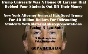 DONALD TRUMP FAKE UNIVERSITY