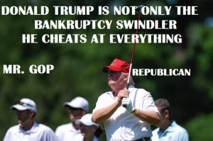 WHITE HOUSE - 2016 TRUMP GOLF CHEATER
