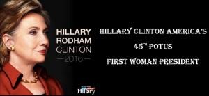 HILLARY CLINTON 45TH POTUS