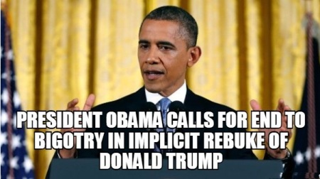 BIGOTRY - OBAMA V TRUMP 1